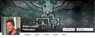 Anton Lundin Pettersson sabre suede extreme droite identitaire islam immigration migrant attentat breivik islam facebook