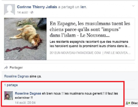 Corinne Thierry Jallais racisme isalmophobie