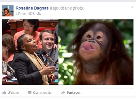 Racisme taubira Roseline Dagnas republicain