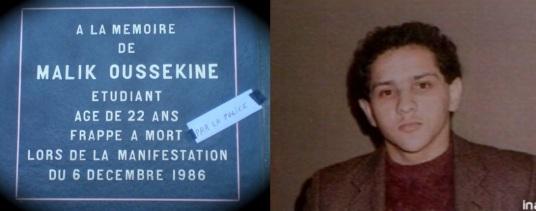 Malik Oussekine tué par la police 6 decembre 1986 manifestation