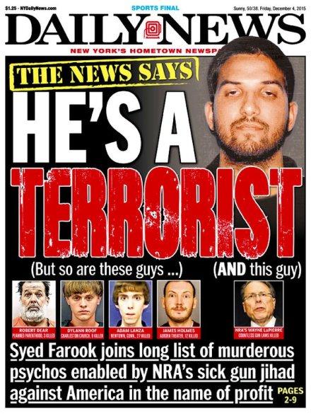 Syed farook dylan roof terrorisme terroriste Robert Lewis Dear adam lanza desequilibré extreme droite islamiste