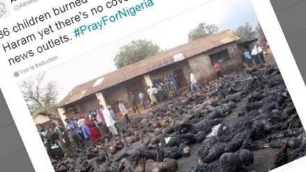 Boko haram nigeria islam chretien brulé vif enfants eglise etat islamique terrorisme barbare fake hoax afrique