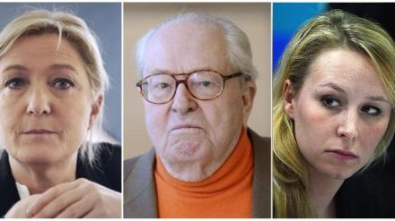 Jean-Marie Le Pen Marine Le Pen Marion Maréchal Le Pen les dynastie famille heritage politique pere mere fille