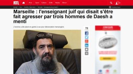 Sylvain Saadoun fausse agression antisemite marseille islamophobie mensonge