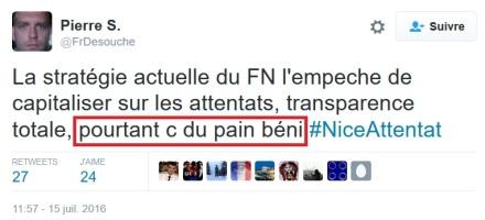 Pierre Sautarel fdesouche attentat terrosrisme islamiste FN pain béni