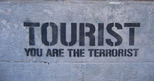 tourist you are the terrorist touristes dehors go home majorque espagne