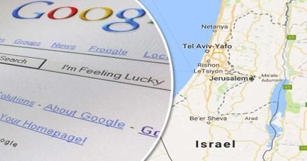 palestine israel google maps byocott censure reconaissance