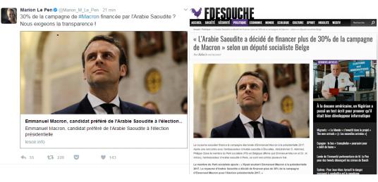 fdesouche-macron-hoax-fane-news-marion-marechal-le-pen